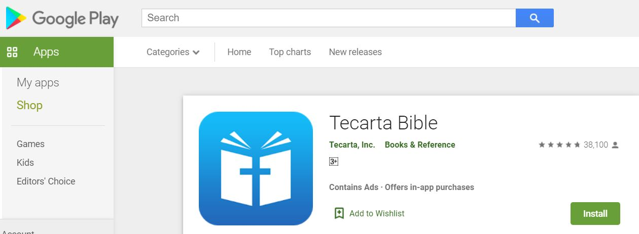 Tecarta Bible on Google Play Store