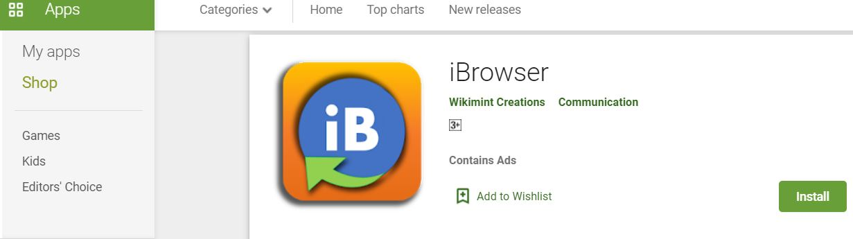 iBrowser on Google Play Store