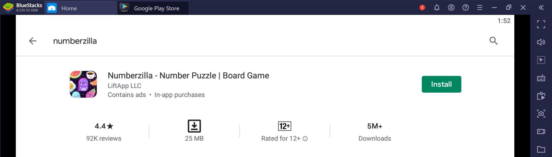 Find Numberzilla App